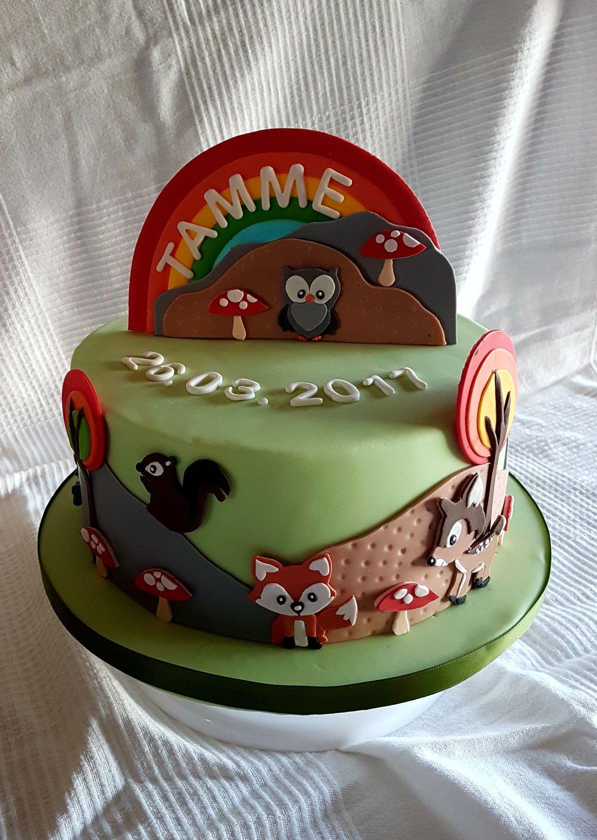 Oben im Himmel Tauftorte Torte taufe Birthday Cake Cake und