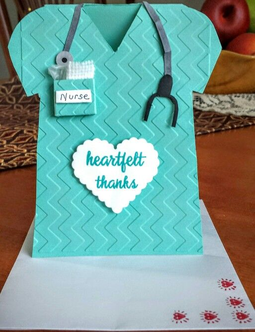 Nurse's thank you note card