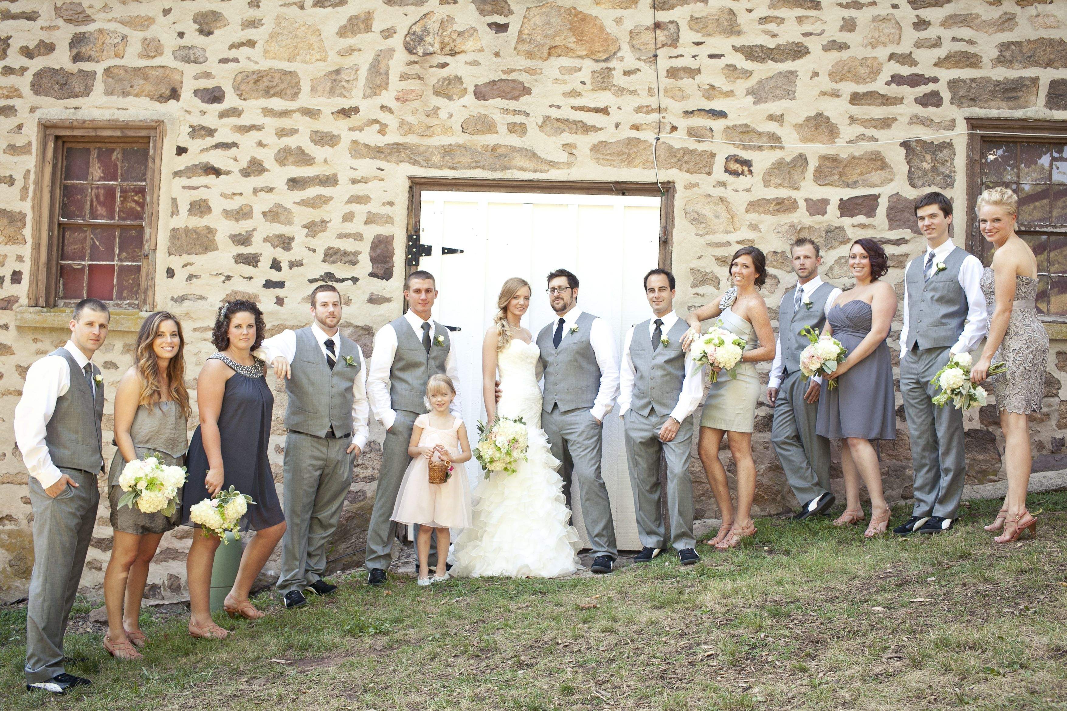 stone barn and grey wedding party | my wedding | Pinterest | Stone ...