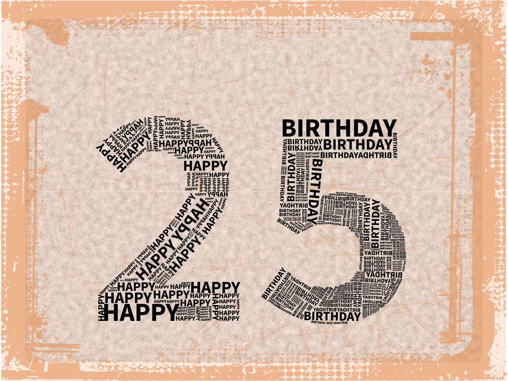 Happy 25th birthday mstypologo pinterest thoughts happy 25th birthday bookmarktalkfo Choice Image
