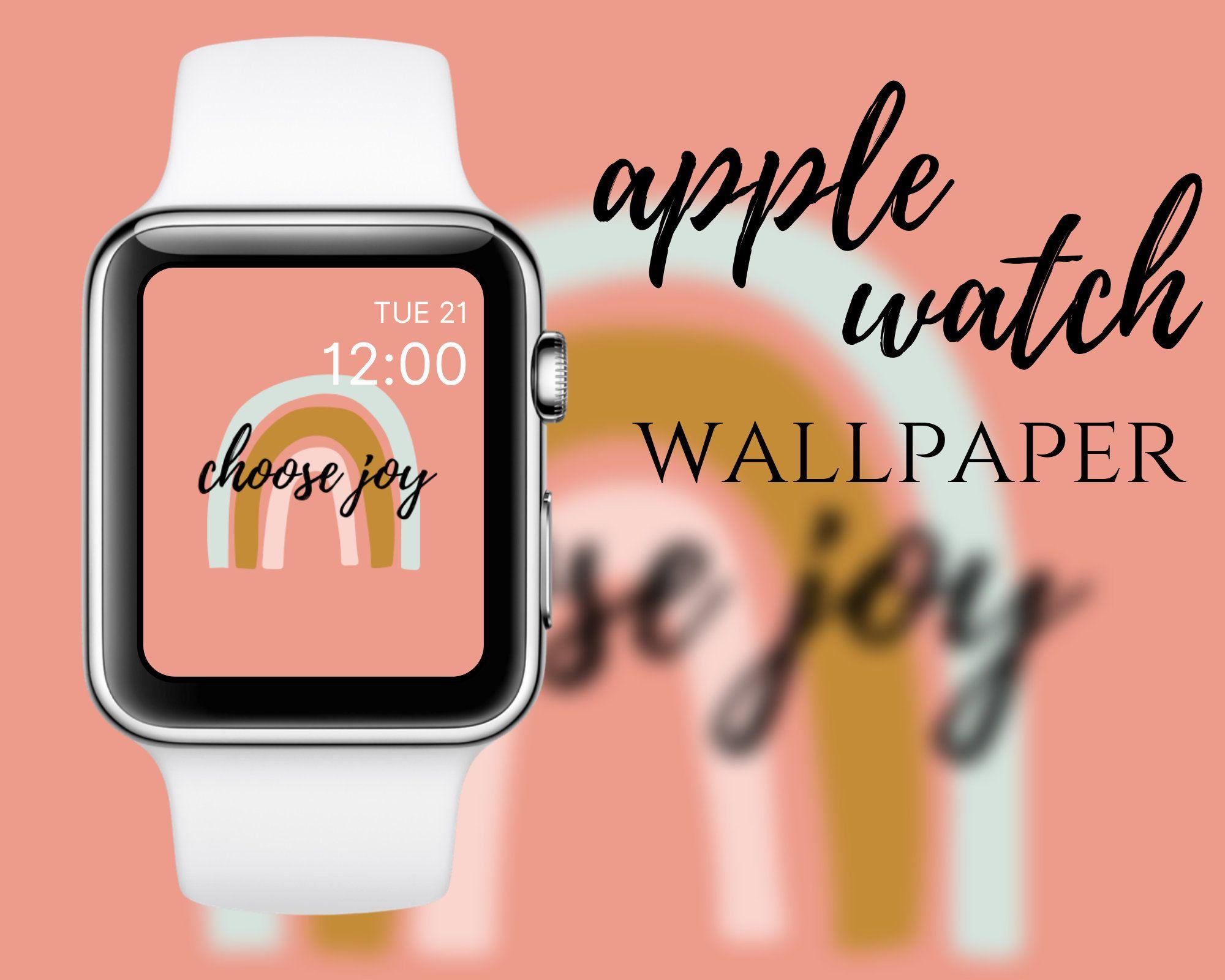 Apple Watch Wallpaper Rainbow Instant Download Apple Watch Wallpaper Watch Wallpaper Apple Watch