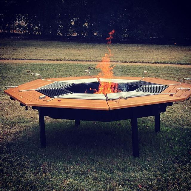 JAG Grills: 3-in-1 BBQ Grill, Table, & FirePit   Fire pit ...