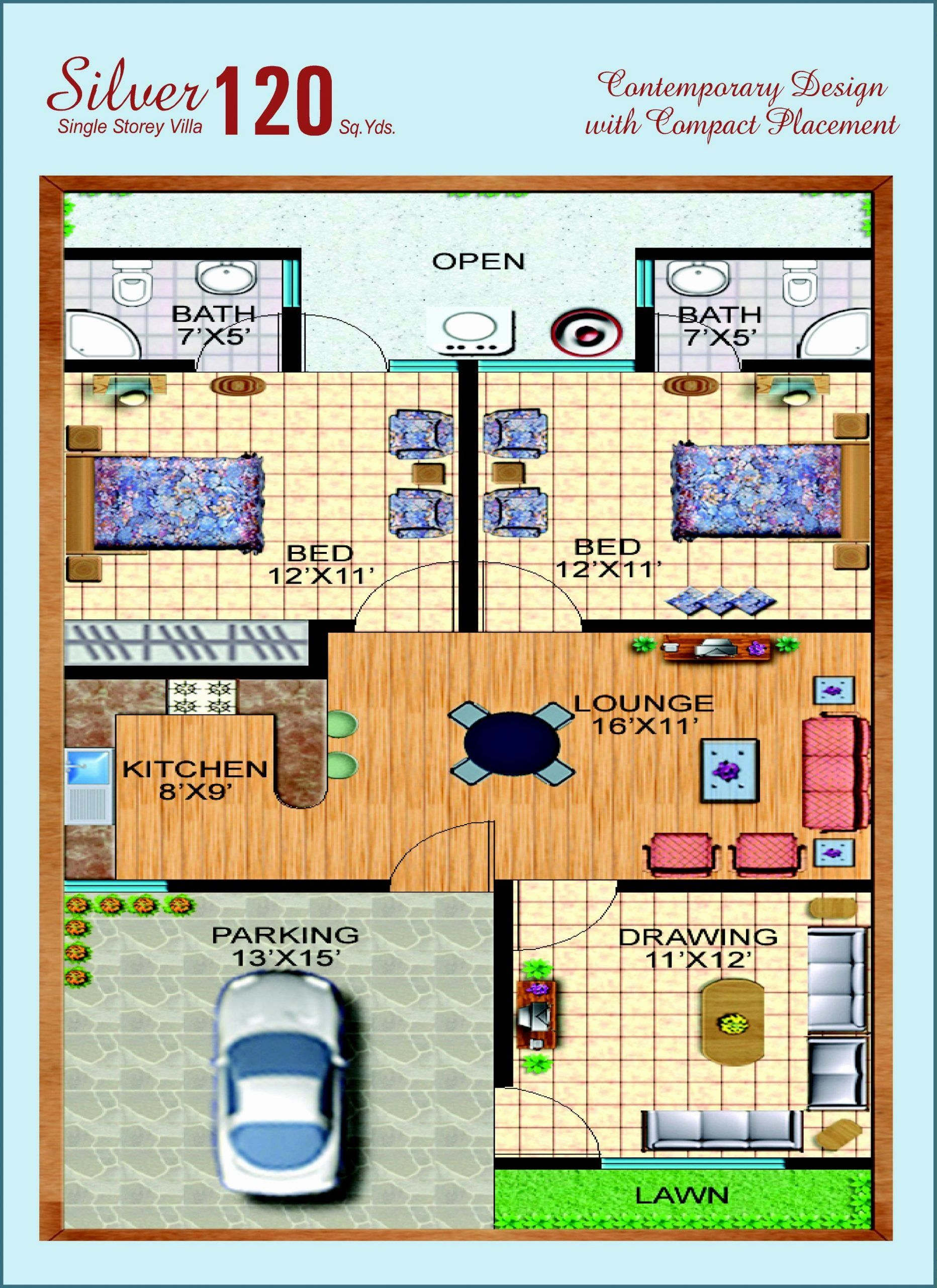 120 Sq Ft House Plans New 120 Yards House Design In Karachi In 2020 My House Plans 2bhk House Plan Cottage House Plans