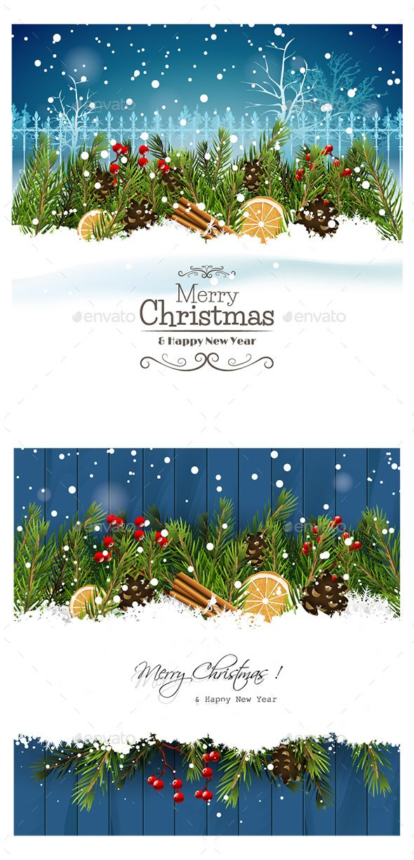 Christmas & Happy New Year Card | Design posters, Fonts and Font logo