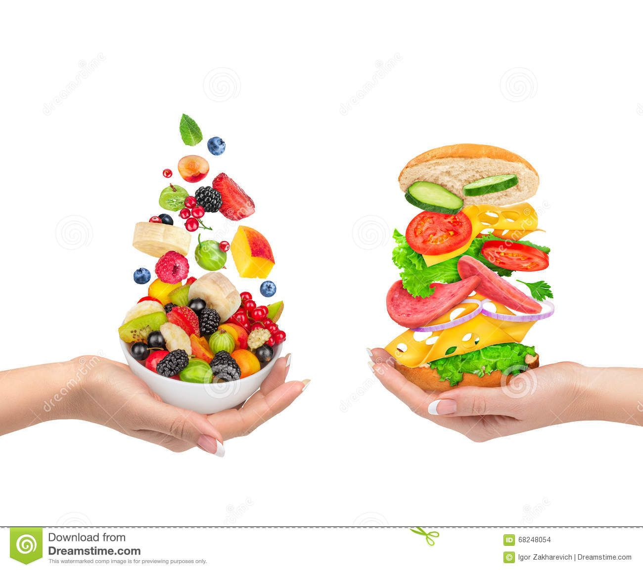Healthy Vs Unhealthy Food Choices