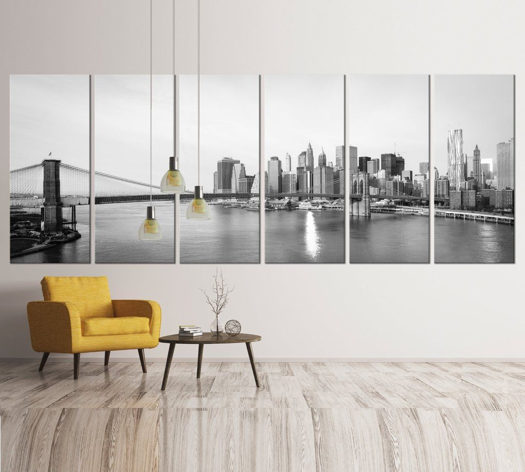 Black and white extra large new york canvas print office art
