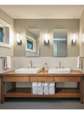 Mobile bagno collezione Linear Xlab legno massello | Badezimmer ...