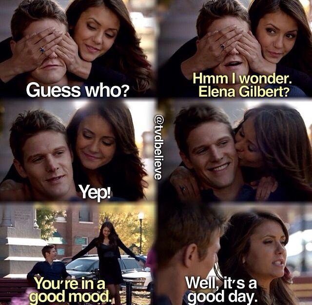 TVD whahaha Elena? Don't think zo, pooorrr Matt. Hope she lets him live...