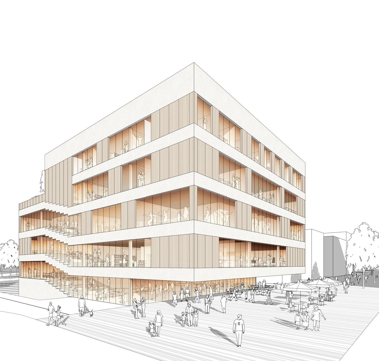Bildungshaus reloaded - Richter Musikowski gewinnen Wettbewerb in Norderstedt #arquitectonico