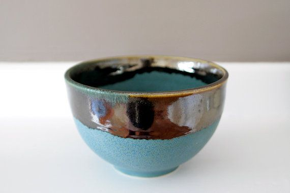 Stunning Unusual Art Bowl in Turquoise and Shining by LeiliDesign, $250.00