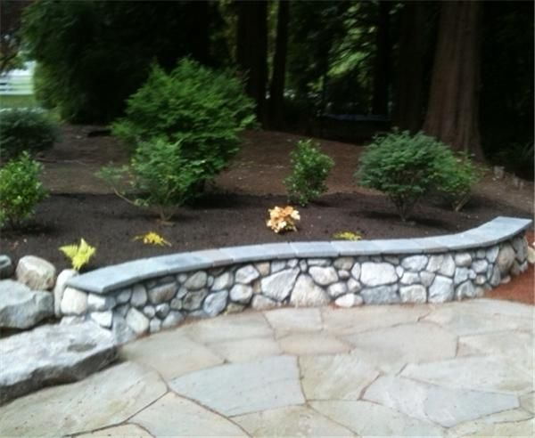 Stone Walls Around Patio | ... Us Back Generations Here The Small Stone Wall
