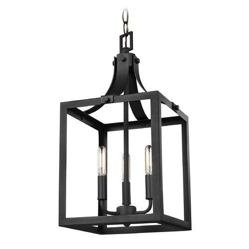 Sea Gull Lighting Labette Black Mini-Pendant Light