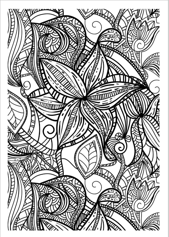 Drawing With Thick Lines Of Various Leaves Totally Free Like All Rhpinterest: Coloring Pages For Adults Website At Baymontmadison.com