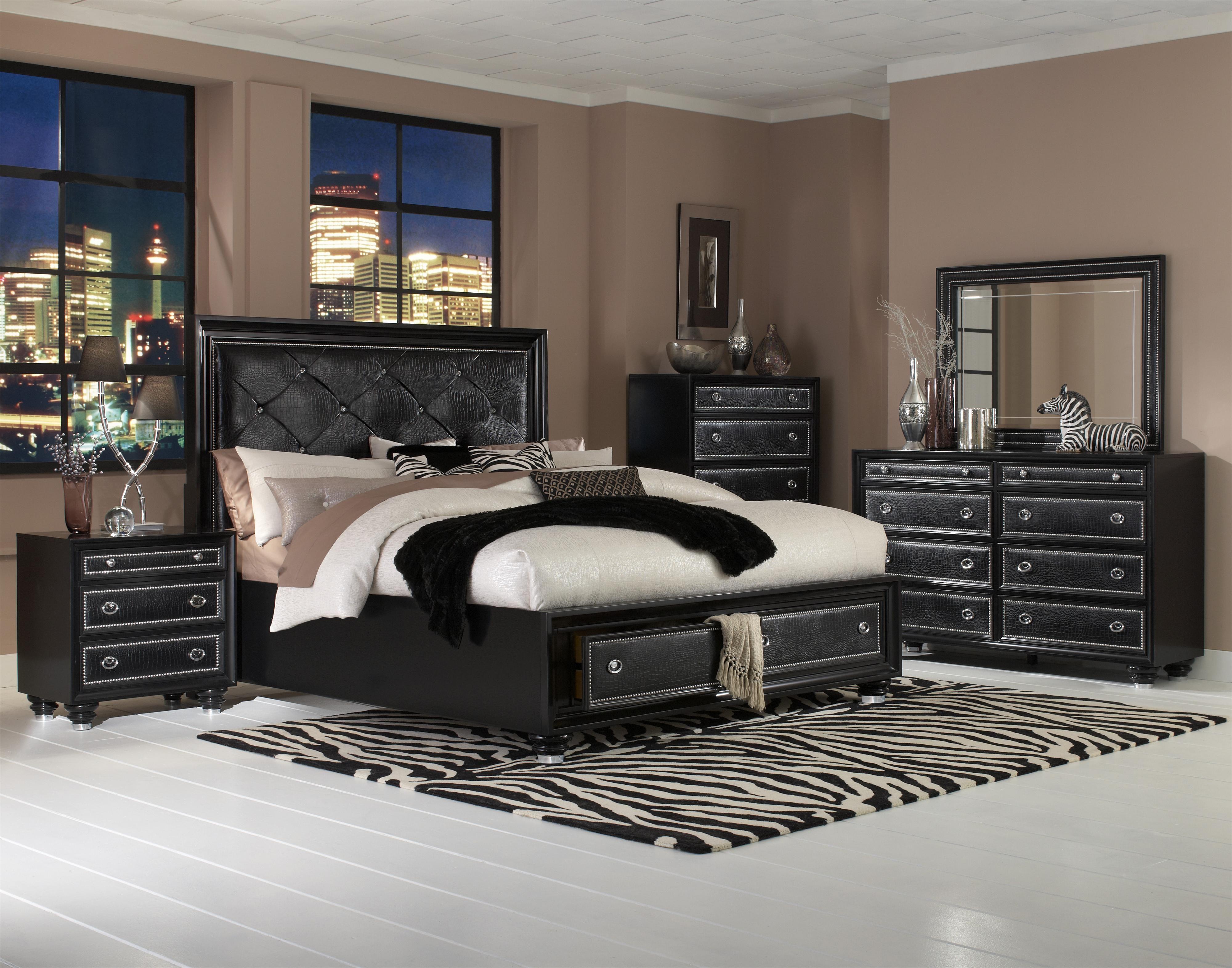 Magnussen Furniture Onyx 10-Piece Island Panel Storage Bedroom Set