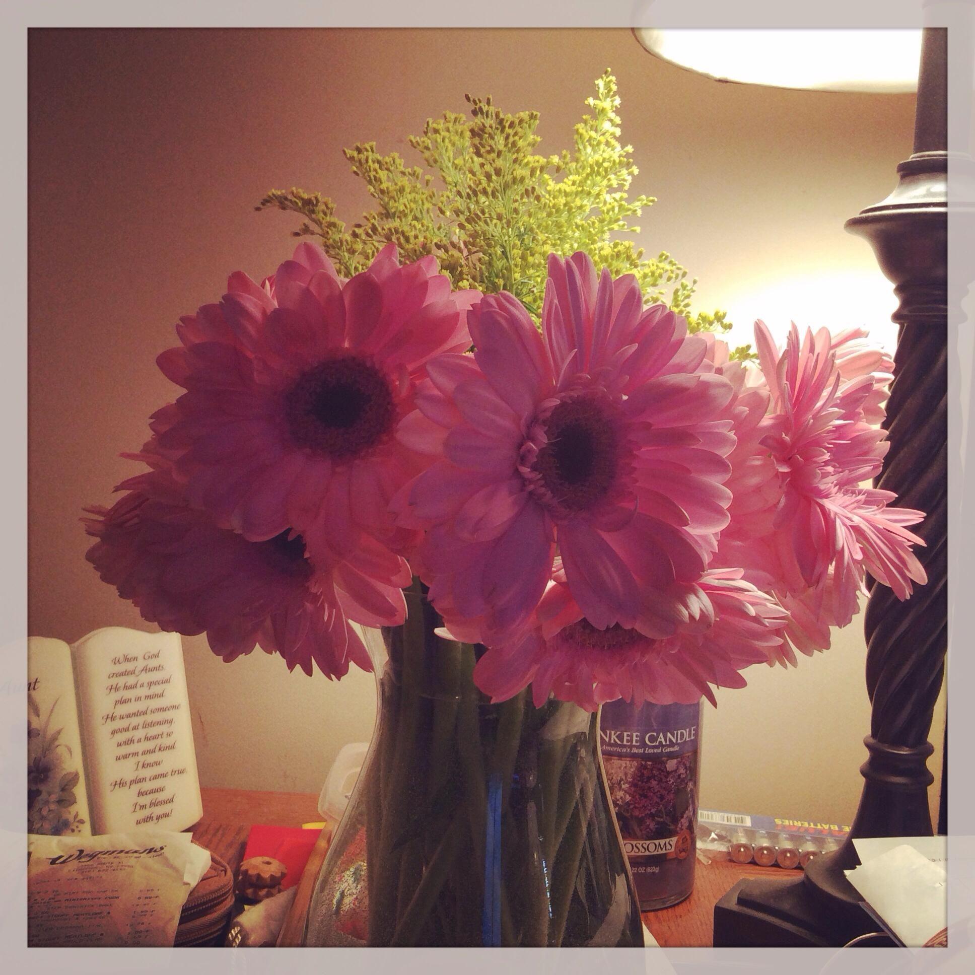 Pink Solidago Flowers For Valentines Day Pretty Flower Bouquet