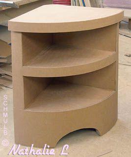 Meuble D Angle Ou Meuble De Coin Mais En Carton Karton Design Karton Karton Mobel