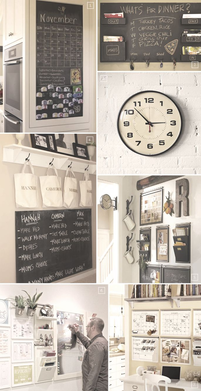 IDEAS FOR SETTING UP A FAMILY COMMAND CENTER IN THE KITCHEN. Organization  ...