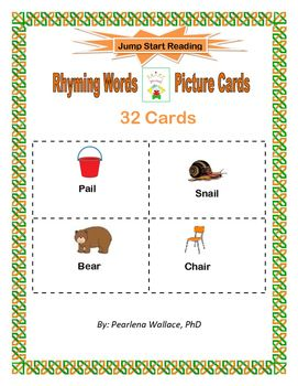 These Rhyming Word Cards Have Picture Clues To Help Students Have