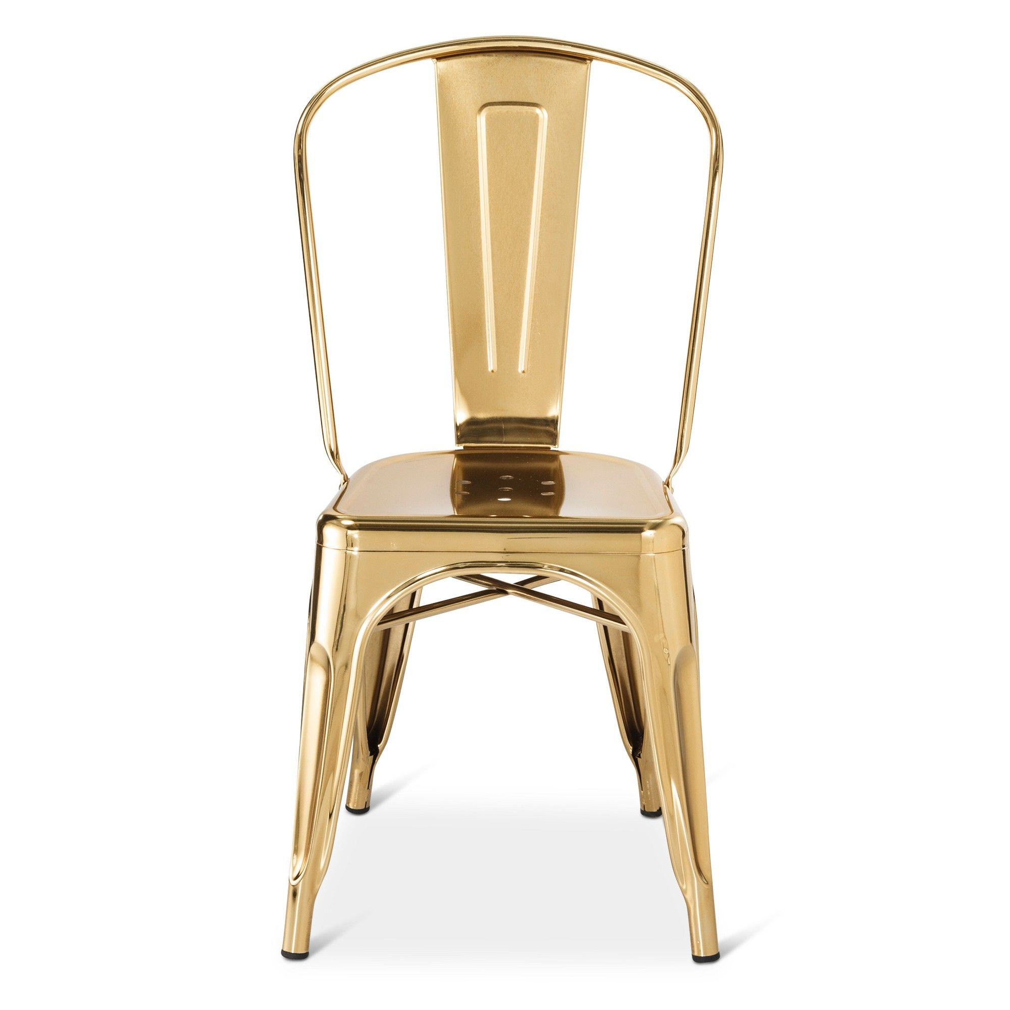 Carlisle Couture High Back Metal Dining Chair Gold Shiny Gold