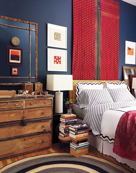 Red Tapestry Bedroom Ideas