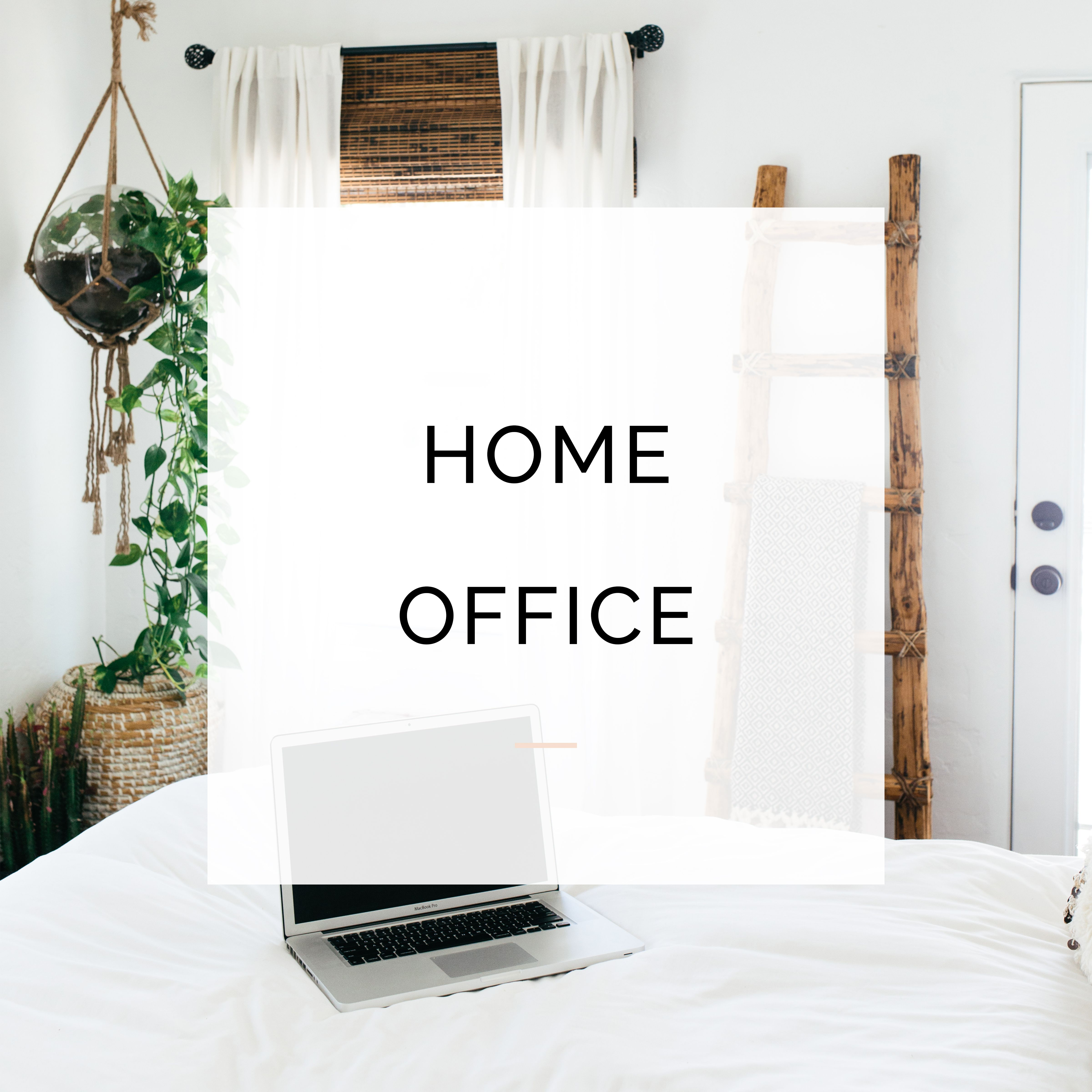 Home Office Inspiration For Online Businesses Owners. // Interior Design,  Home Decor,