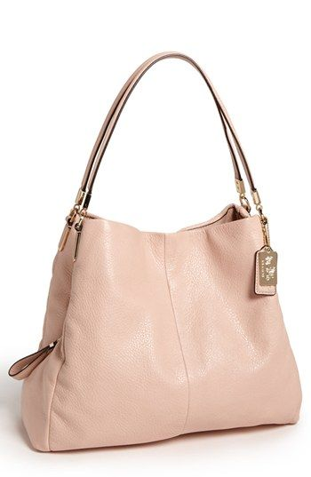 Coach Madison Small Phoebe Leather Shoulder Bag Available At Nordstrom I Want This In The Grey Birch Color Not Pictured