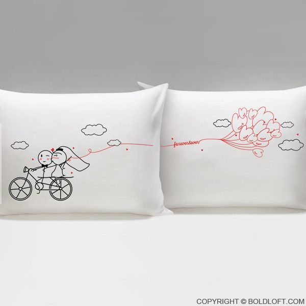 Forever & Ever™ Bride & Groom Pillowcases | Fundas para almohadas y ...