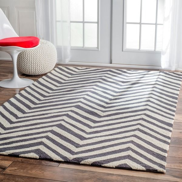 NuLOOM Handmade Alexa Chevron Wool Rug 76 X 96 The