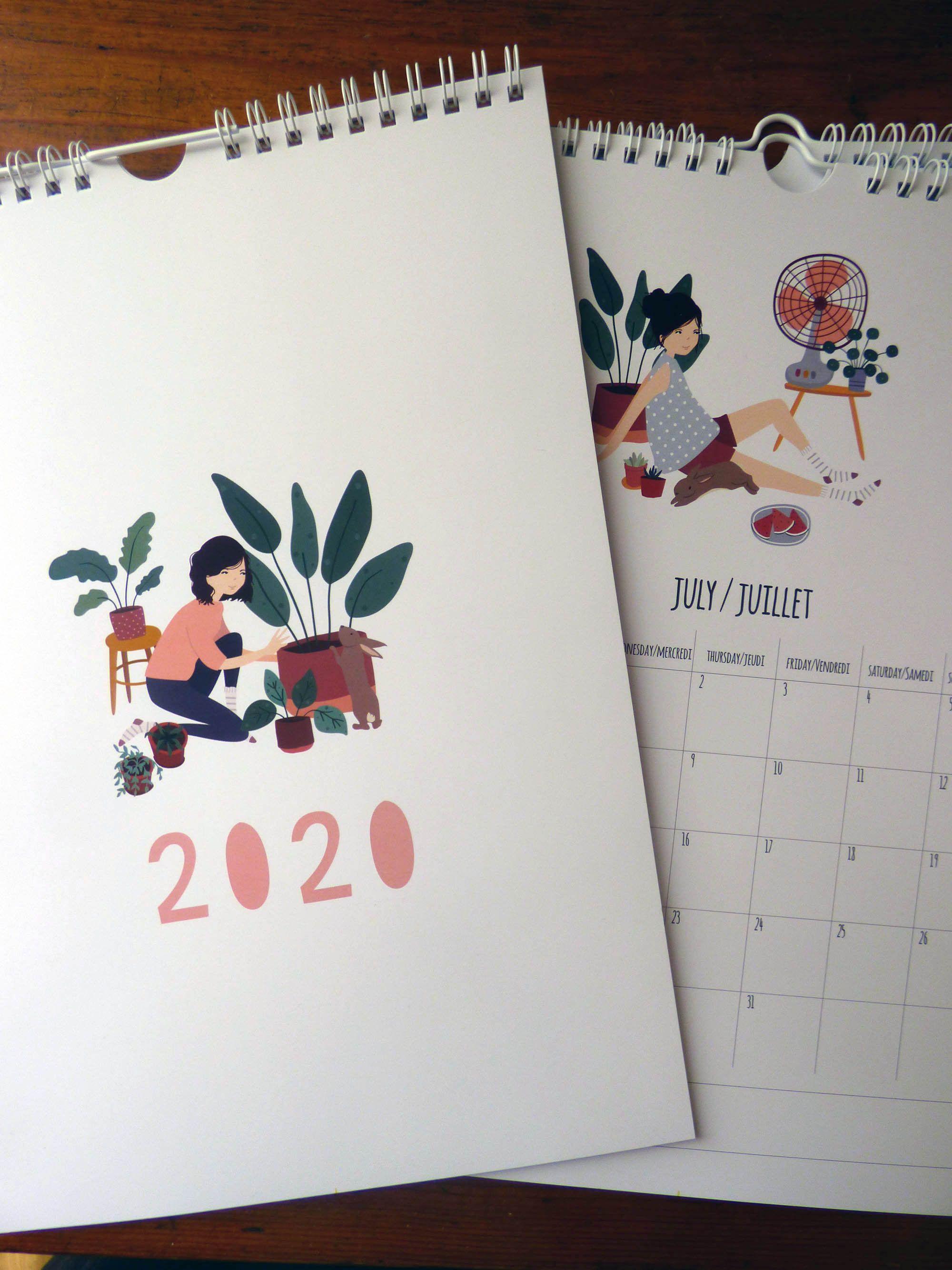 Calendrier 2021 Un lapin à la maison. Format A4.   Etsy   Calendar