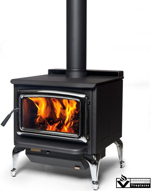 Pacific Summit Stove by Pacific Energy from Vancouver Gas Fireplaces.  Crafted for maximum heating capacity, maximum burn time and maximum view of your wood fire, the Summit answers the call for a highly effective wood stove for bigger spaces and colder, longer nights.