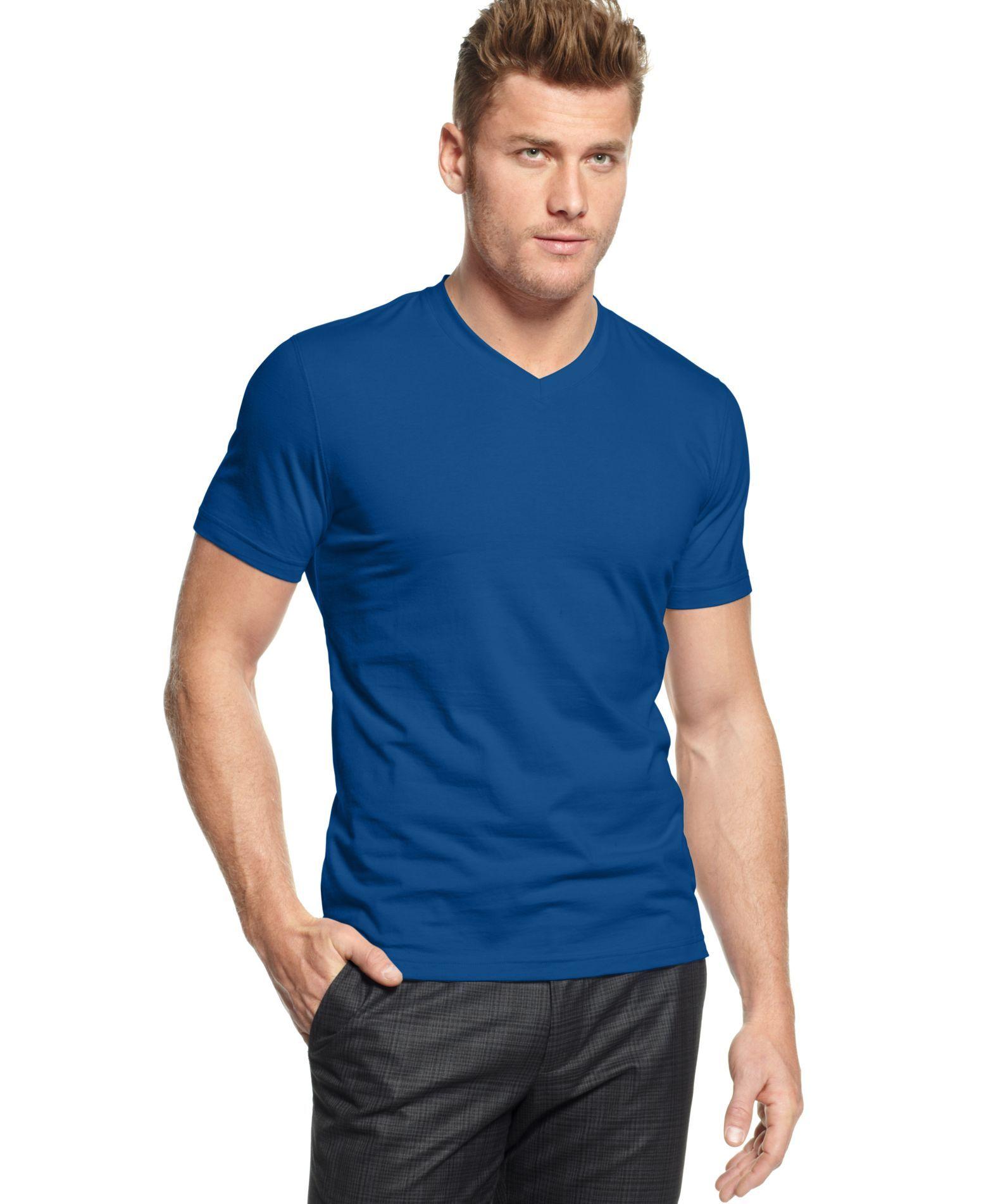 3e771850b079f Alfani Big and Tall T-Shirt, Stretch V Neck Tee   Products   Pinterest