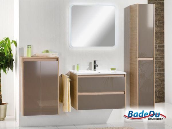 Fackelmann Badezimmermöbel ~ Fackelmann a vero badmöbel set gäste wc farbe graueiche optik weiß
