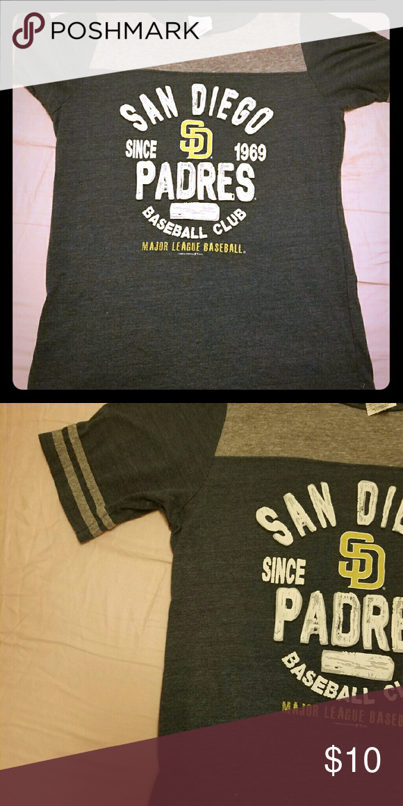 Baseball T- attention Padres fans! Short sleeve. LG but fits like a loose fitted M  (I'm a M) Tops Tees - Short Sleeve
