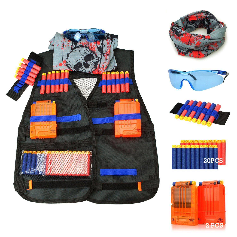 Tactical Vest Kit for Nerf Guns N-Strike Elite Series Dart Blaster Toy Armor  New