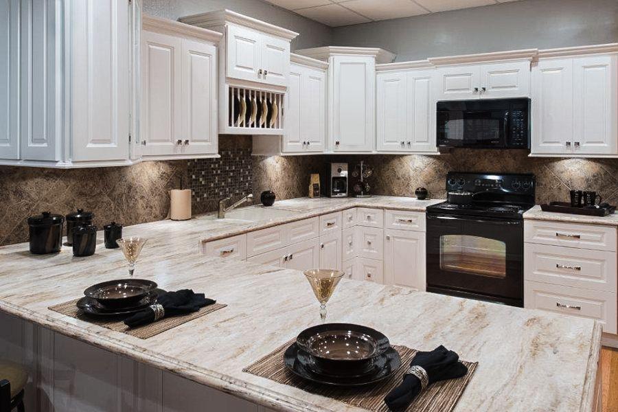 Faircrest Apsen White Kitchen Cabinets | White kitchen ...