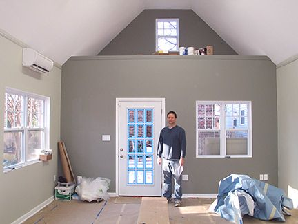 Studio building project the final stretch Dark accent walls