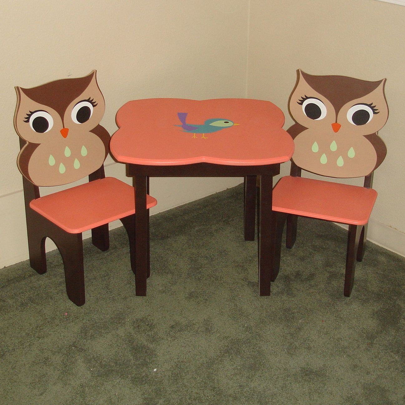 Owl Chair Child S Table Chair Set Owl Furniture Kids Kids Furniture