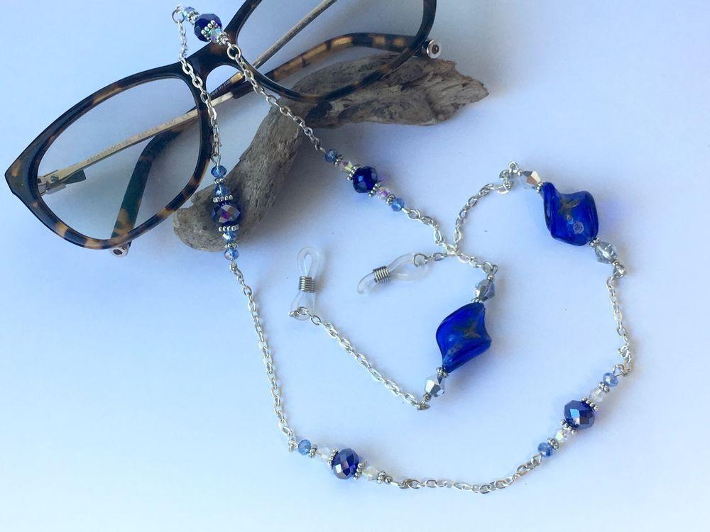 714e79d3b3 Cordon chaîne lunettes cristal Swarovski cordon attache lunettes soleil ou  vu