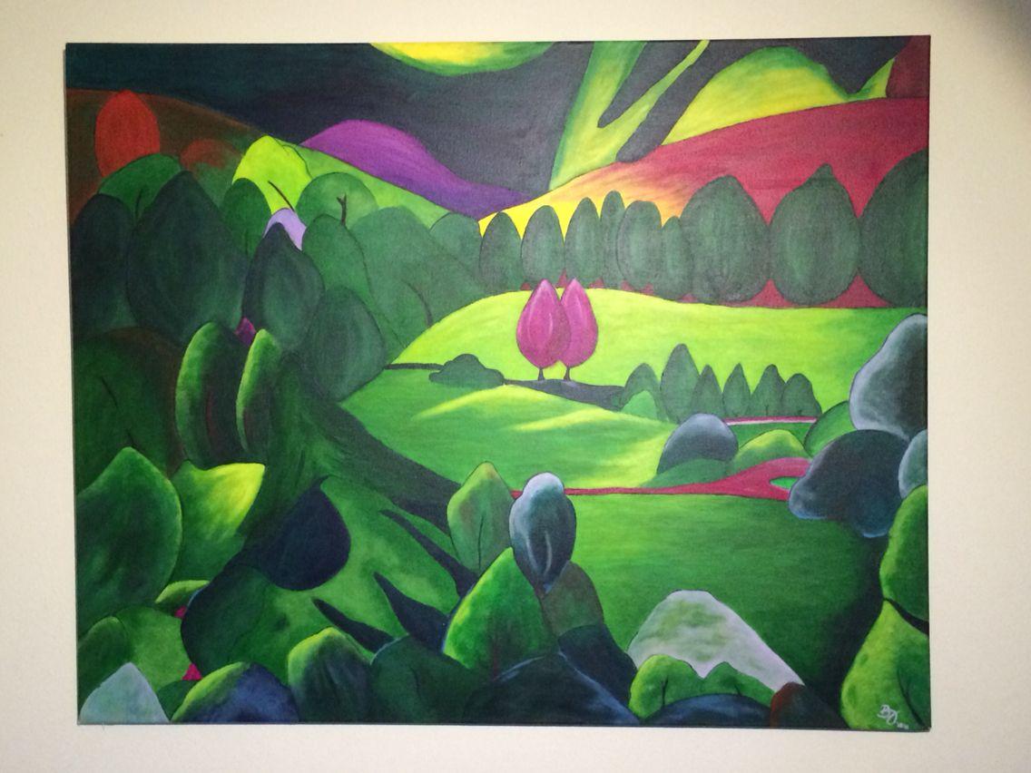 Landschaft Acryl auf Leinwand | Malerei | Pinterest