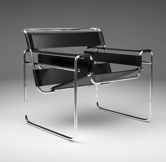the model b3 chair or best known now as the wassily chair