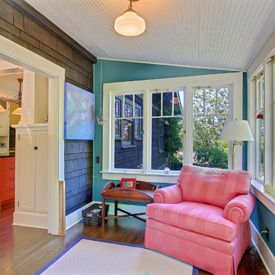 Colorful Enclosed Porch Opens To Kitchen How Ours Would
