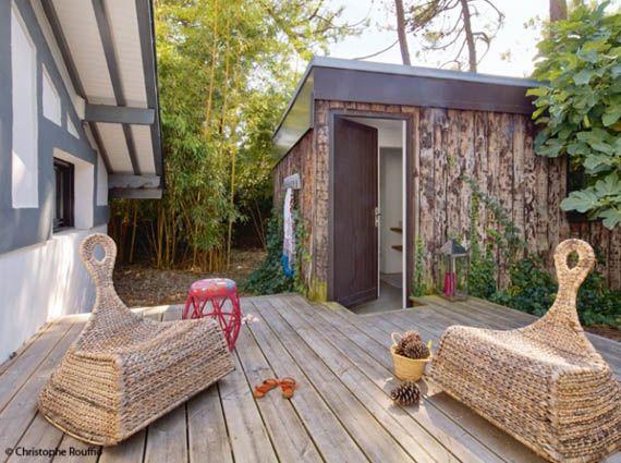 Casa rústica con interior moderno