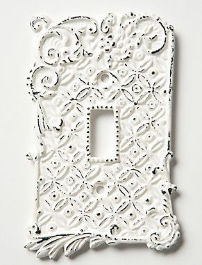 Beautiful white faceplates!  sc 1 st  Pinterest : decorative white faceplates - pezcame.com