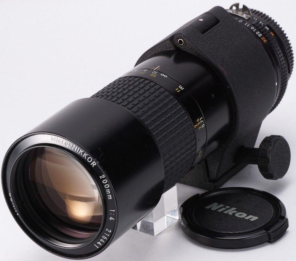 Nikon Ai S Micro Nikkor 200mm F4 Macro Telephoto Prime In Ex Condition Nikon Lens Camera Gear