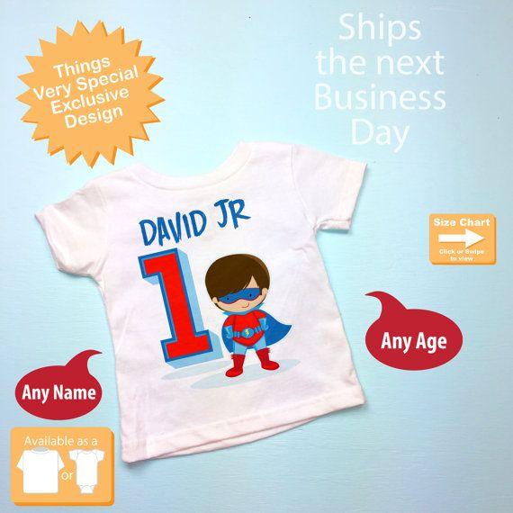 Boys Personalized Superhero 1st Birthday By ThingsVerySpecial