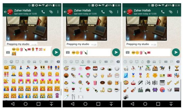 Whatsapp For Android Updated With New Emoji Panel Emoji Android Android Emoji