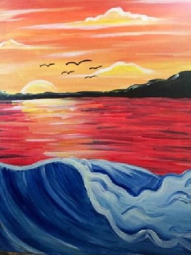 Catalina Dreaming - http://www.paintnite.com - #PaintNIte #Ocean #Sunset