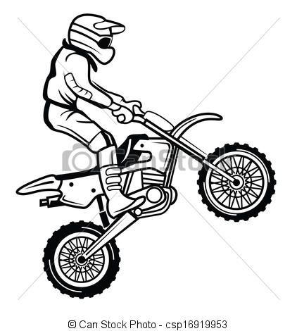 Vektor Moto Kreuz Stock Illustration Lizenzfreie Illustration Stock Clip Art Symbol Stock Clipart Piktogr Fahrrad Zeichnung Zeichnungen Strichzeichnung