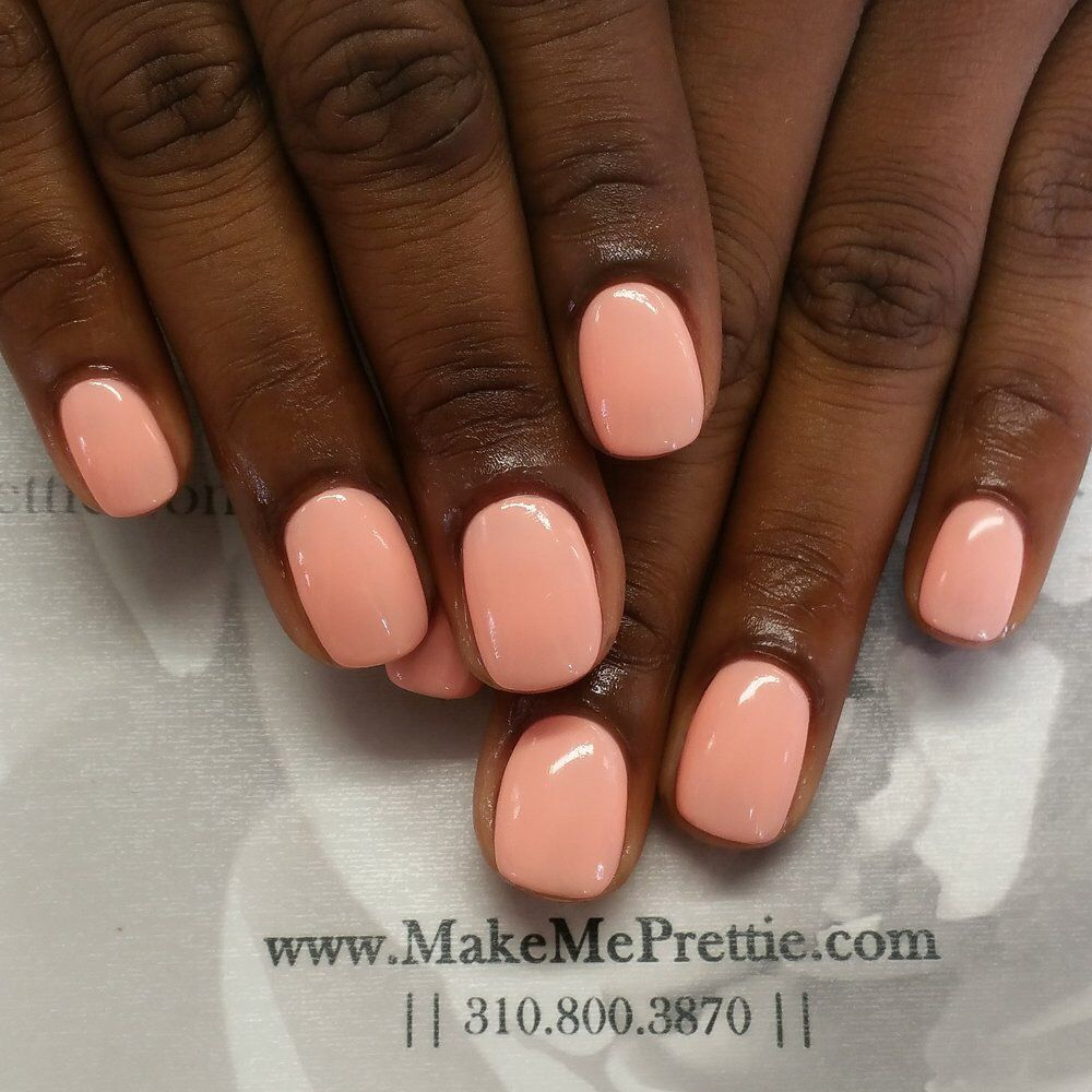 This is an acrylic overlay, no tips were placed on the nails | Nail ...