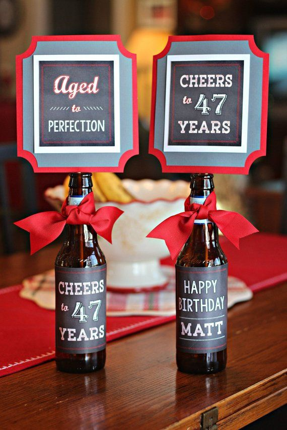 40th birthday decorations 40th party beer bottle labels beer wraps rh pinterest com